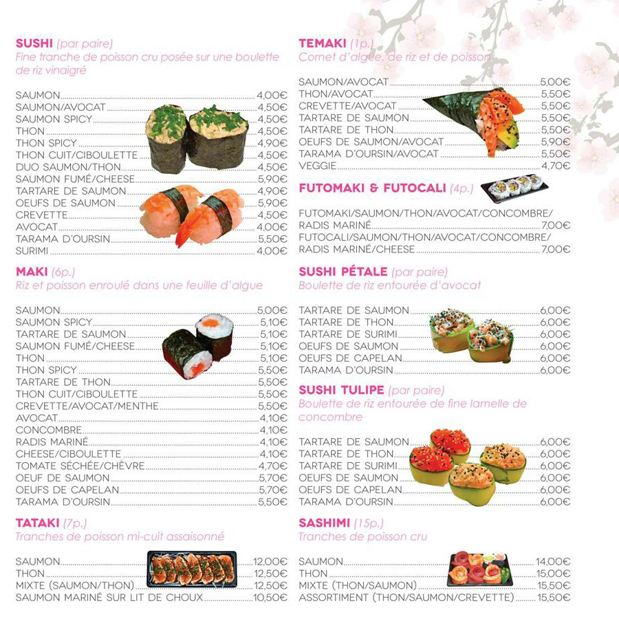 carte miss sushi vallauris